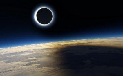 Солнечное затмение над